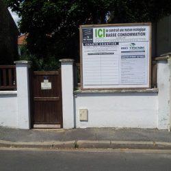 Affichage chantier de la maison écologique d'Issy-les-Moulineaux