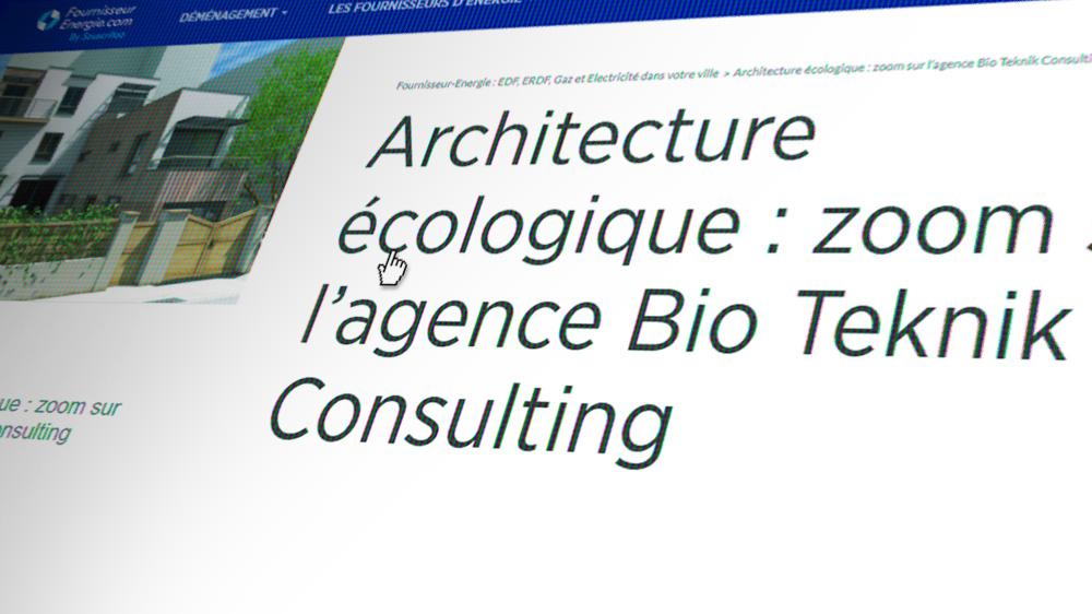 Aperçu de l'article sur l'architecture écologique
