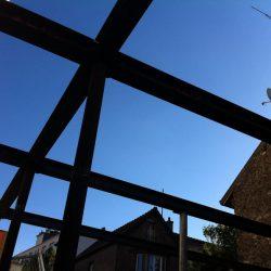 Détail construction de la maison écologique d'Issy-les-Moulineaux