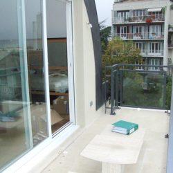 Terrasse de la maison bioclimatique