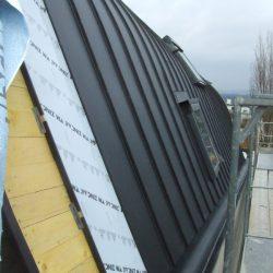 Détail du toit en zinc