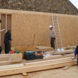 Ossature bois de la maison écologique d'Issy-les-Moulineaux