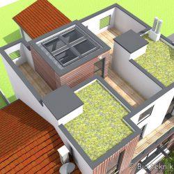 Terrasses végétalisées de la maison écologique d'Issy-les-Moulineaux